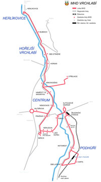 mapa MHD 2020
